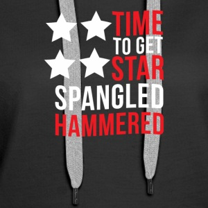 Time To Get Star Spangled Hammered - Women's Premium Hoodie