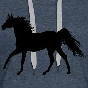 The horse (variable colors!) - Women's Premium Hoodie