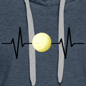 My heart beats for volleyball! gift - Women's Premium Hoodie