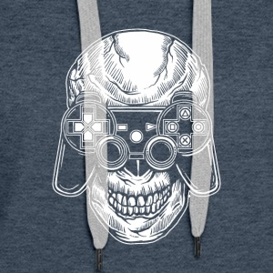 Skull Gamers. Gaming till the end. - Women's Premium Hoodie