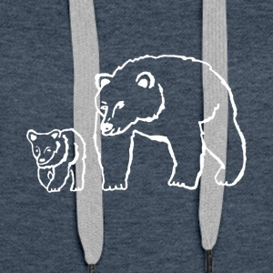 Mama and Me Bear shirt - Funny shirt for Mom - Women's Premium Hoodie