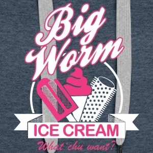 BIG WORM ICE CREAM - Women's Premium Hoodie