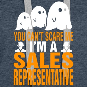 You Cant Scare Me Sales Representative Halloween - Women's Premium Hoodie