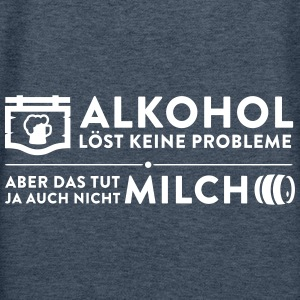 Alcohol Doesn't Solve Problems Neither Milk - Women's Premium Hoodie