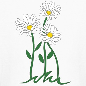 daisy marguerite moonflower - Kids' Long Sleeve T-Shirt