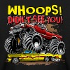 Monster Truck Whoops Red - Kids' Long Sleeve T-Shirt