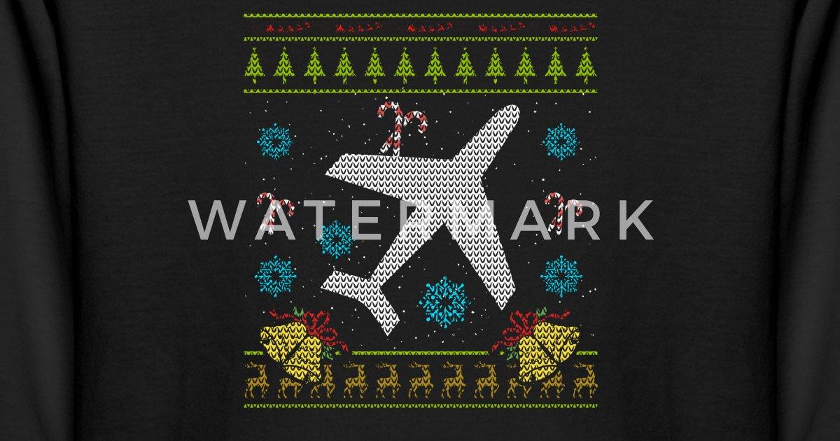 a1cc50322 Kids' Longsleeve ShirtPlane Christmas Ugly Sweater Airplane Pilot Shirt