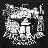 Vancouver Souvenir Inukshuk Landmark Art - Kids' Long Sleeve T-Shirt