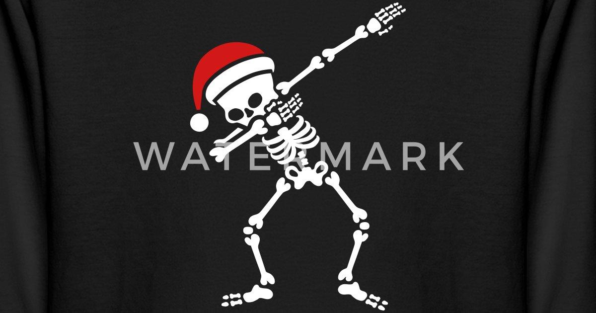 9f13579e Santa dab / dabbing skeleton Kids' Longsleeve Shirt | Spreadshirt
