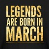 Legends are born in march birthday shirt design - Kids' Long Sleeve T-Shirt