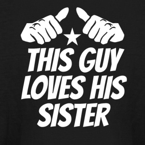 This Guy Loves His Sister - Kids' Long Sleeve T-Shirt