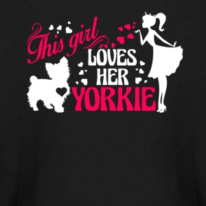 Girl Loves Her Yorkie Shirt - Kids' Long Sleeve T-Shirt