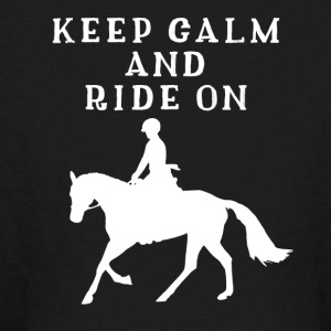 Keep Calm And Ride On - Funny Horse Riding T-Shirt - Kids' Long Sleeve T-Shirt