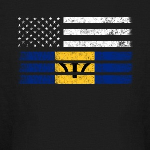Barbadian American Flag - USA Barbados Shirt - Kids' Long Sleeve T-Shirt