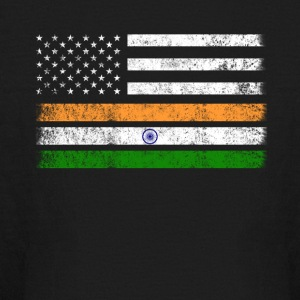 Indian American Flag - USA India Shirt - Kids' Long Sleeve T-Shirt
