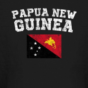 Papua New Guinean Flag Shirt - Vintage Papua New G - Kids' Long Sleeve T-Shirt