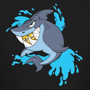 Splash Gang Shark - SG Gold Teeth - Kids' Long Sleeve T-Shirt