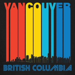 Retro Vancouver Canada Skyline - Kids' Long Sleeve T-Shirt