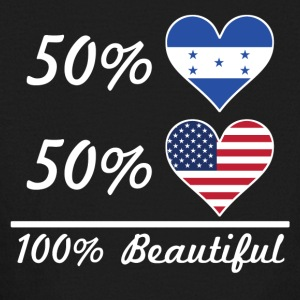 50% Honduran 50% American 100% Beautiful - Kids' Long Sleeve T-Shirt