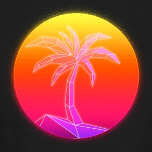 Sunset Palmtree, 80's Style - Kids' Long Sleeve T-Shirt