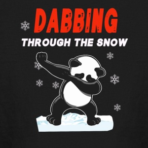 Panda DABBING THROUGH THE SNOW T-SHIRT - Kids' Long Sleeve T-Shirt