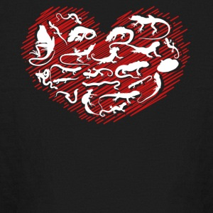 Reptile Heart Shirt - Kids' Long Sleeve T-Shirt