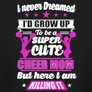 Super Cute Cheer Mom T Shirt - Kids' Long Sleeve T-Shirt