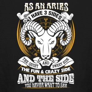 AS a aries I have 3 sides - Kids' Long Sleeve T-Shirt