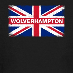 Wolverhampton Shirt Vintage United Kingdom Flag - Kids' Long Sleeve T-Shirt