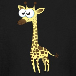 giraffe animal wildlife vector illustration image - Kids' Long Sleeve T-Shirt