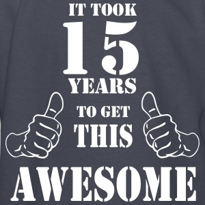 15th Birthday Get Awesome T Shirt Made in 2002 - Kids' Long Sleeve T-Shirt