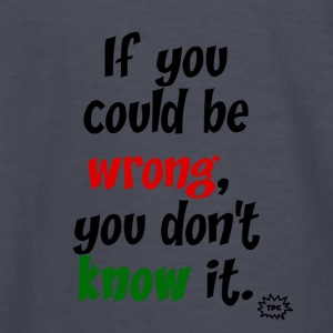 could be wrong2 - Kids' Long Sleeve T-Shirt