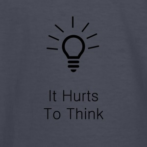 It Hurts To Think - Kids' Long Sleeve T-Shirt