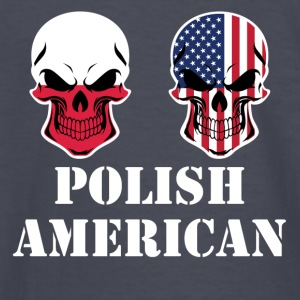 Polish American Flag Skulls - Kids' Long Sleeve T-Shirt