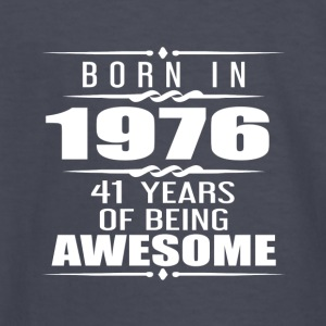 Born in 1976 41 Years of Being Awesome - Kids' Long Sleeve T-Shirt