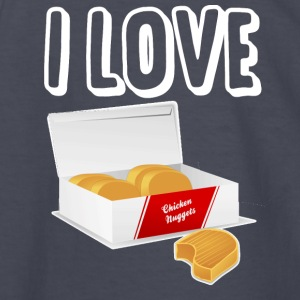 I love chicken nuggets - Kids' Long Sleeve T-Shirt