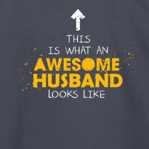 This Is What An Awesome Husband Looks Like - Kids' Long Sleeve T-Shirt