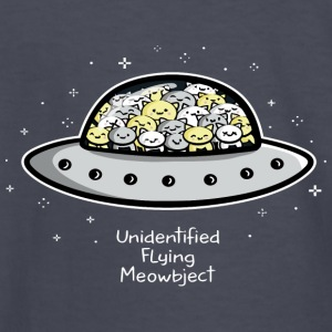 Unidentified Flying Meowbject - Kids' Long Sleeve T-Shirt