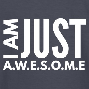 I AM JUST AWESOME - WHITE CLASSIC - Kids' Long Sleeve T-Shirt