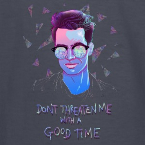 DONT THREATEN ME WITH A GOOD TIME - Kids' Long Sleeve T-Shirt