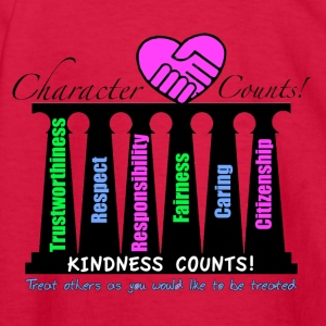 Shop character counts t shirts online spreadshirt for Six pillars of character coloring pages