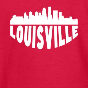 Louisville KY Cityscape Skyline - Kids' Long Sleeve T-Shirt