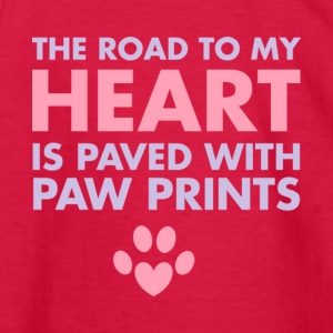 The Road To My Heart Is Paved With Pawprints Shirt - Kids' Long Sleeve T-Shirt