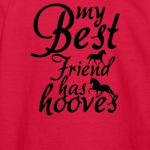 my best friend has hooves horse - Kids' Long Sleeve T-Shirt