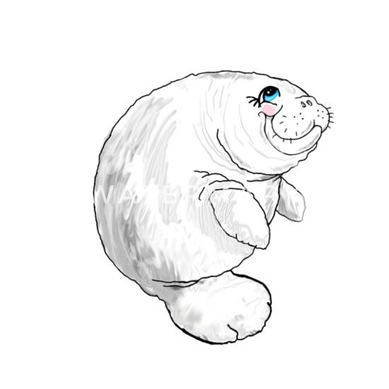Walrus Sea Cow Drawing Sea Animals Kids' T-Shirt | Spreadshirt