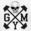 Gym Skull Dumbbell Barbell Weight Athletics 1c - Kids' T-Shirt
