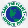 save the planet impeach trump - Kids' T-Shirt