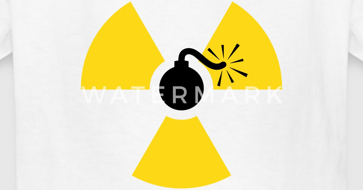 Nuclear Bomb Radioactive Symbol By Azza1070 Spreadshirt