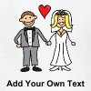 Bride and Groom Cartoon - Add Your Own Text - Kids' T-Shirt