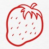 Single color outline  STRAWBERRY fruit cool - Kids' T-Shirt